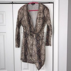 Nude snake wrap dress